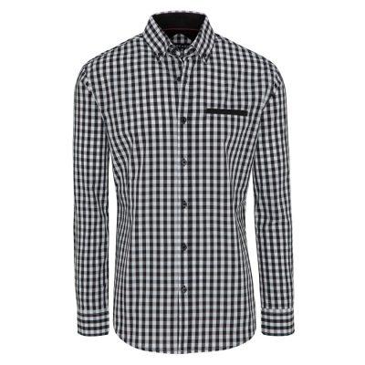 Fashion 4 Men - Tarocash Blain Check Shirt Black Xxxl