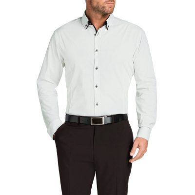 Fashion 4 Men - Tarocash Bond Stretch Print Shirt Black S