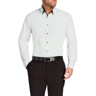 Fashion 4 Men - Tarocash Bond Stretch Print Shirt Black Xxl