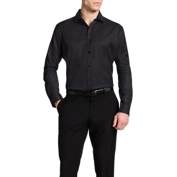 Fashion 4 Men - Tarocash Casino Jacquard Shirt Black 5 Xl