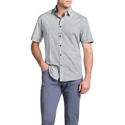 Fashion 4 Men - Tarocash Claude Print Shirt White 5 Xl