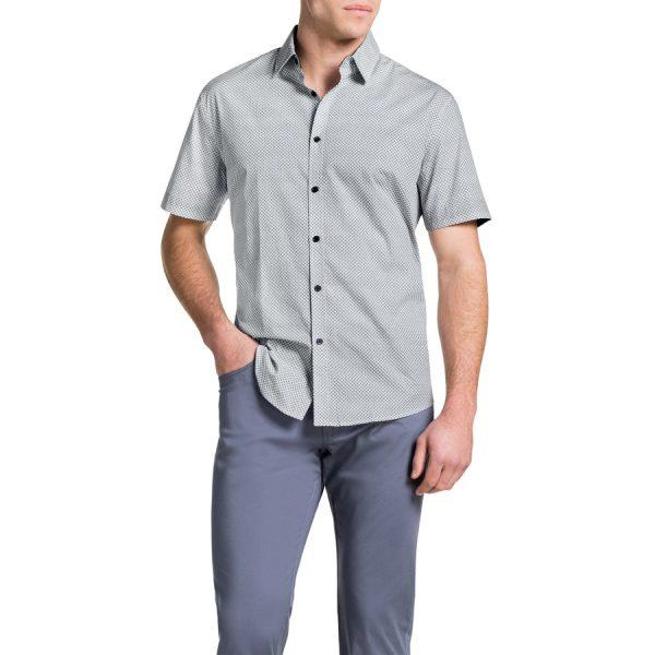 Fashion 4 Men - Tarocash Claude Print Shirt White S