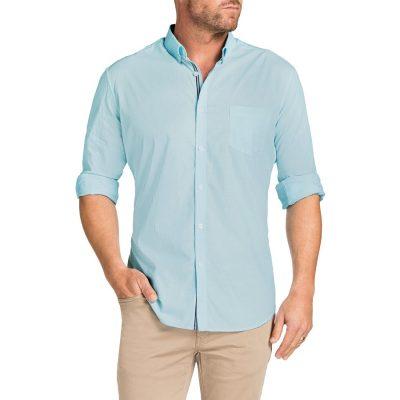 Fashion 4 Men - Tarocash Cool Cotton Shirt Aqua M