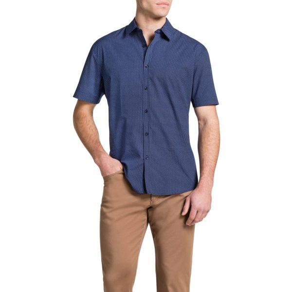 Fashion 4 Men - Tarocash Darcy Print Shirt Blue L