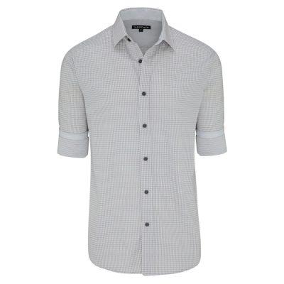 Fashion 4 Men - Tarocash Dolphin Check Shirt Grey L