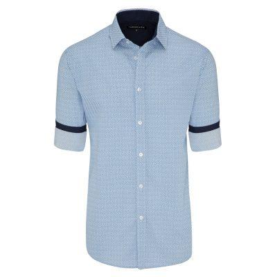 Fashion 4 Men - Tarocash Horse Print Shirt Blue S