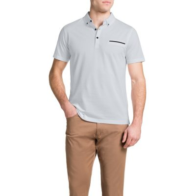 Fashion 4 Men - Tarocash Pique Polo White M