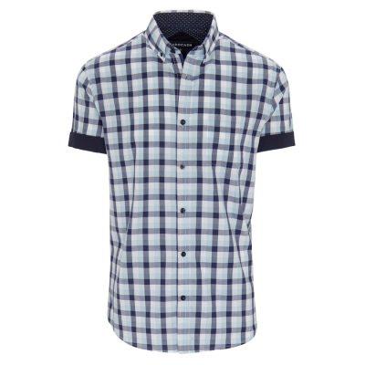 Fashion 4 Men - Tarocash Tucker Check Shirt Blue S