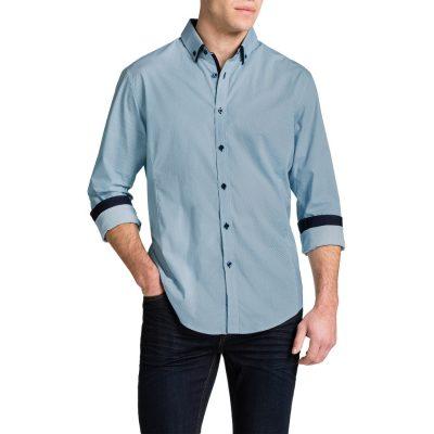 Fashion 4 Men - Tarocash Windsor Print Shirt Aqua 4 Xl