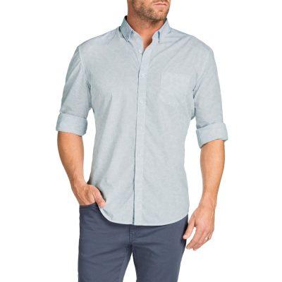 Fashion 4 Men - Tarocash Yale Paisley Slim Print Shirt Ice Xxl