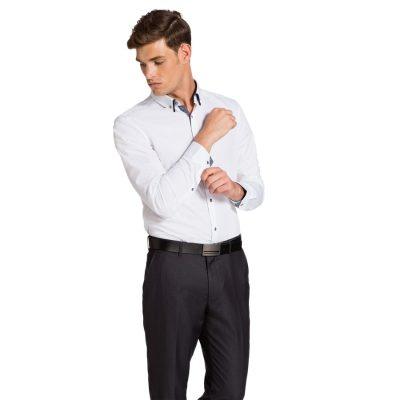 Fashion 4 Men - yd. Ari Slim Fit Shirt White M