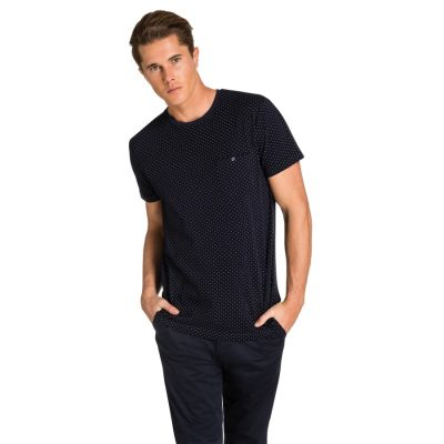 Fashion 4 Men - yd. Bront Pique Tee Dark Blue 2 Xs