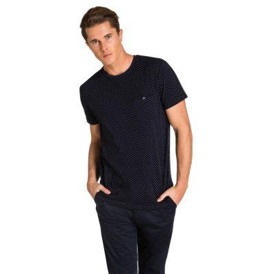 Fashion 4 Men - yd. Bront Pique Tee Dark Blue S