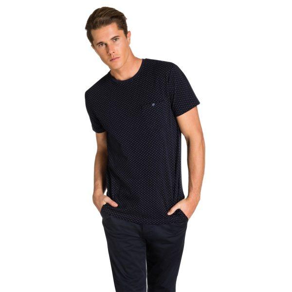 Fashion 4 Men - yd. Bront Pique Tee Dark Blue Xs