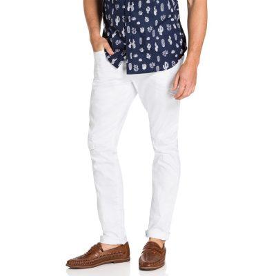 Fashion 4 Men - yd. Cuba Skinny Jean White 40