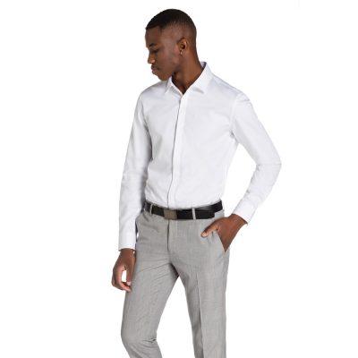 Fashion 4 Men - yd. Garrick Slim Fit Shirt White M