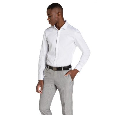 Fashion 4 Men - yd. Garrick Slim Fit Shirt White Xl