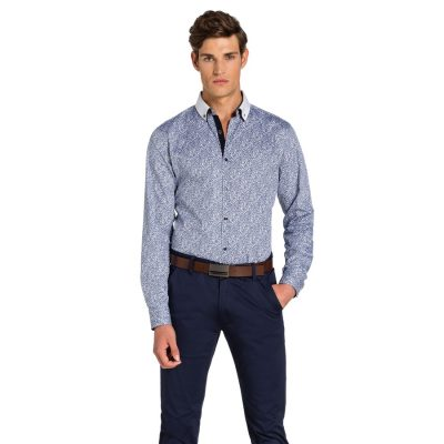 Fashion 4 Men - yd. Lemur Slim Fit Shirt White S