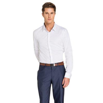 Fashion 4 Men - yd. Leron Slim Fit Dress Shirt White L