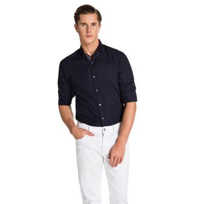 Fashion 4 Men - yd. Pascoe Slim Fit Shirt Navy 2 Xs