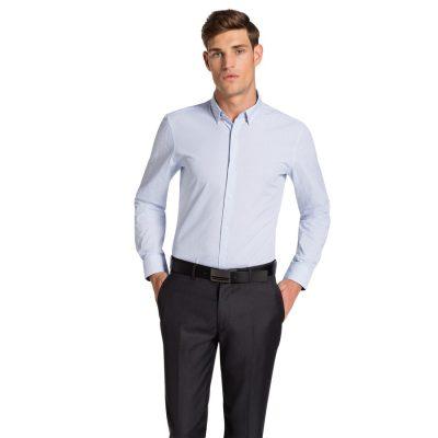 Fashion 4 Men - yd. Randwick Slim Fit Shirt White/Sky Xxl