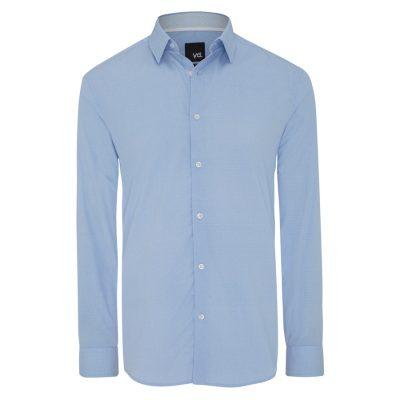 Fashion 4 Men - yd. Sherlock Dress Shirt Blue S