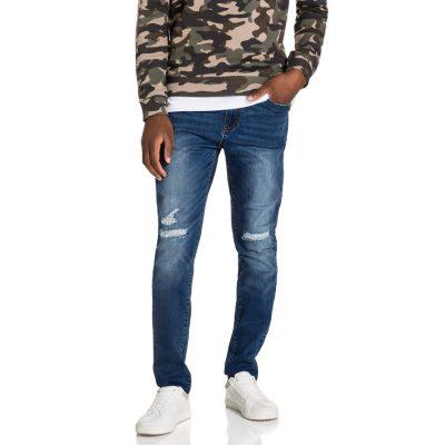 Fashion 4 Men - yd. Torano Slim Tapered Jean Dark Blue 38