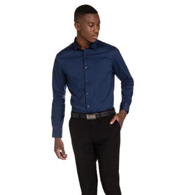 Fashion 4 Men - yd. Vaughn Slim Fit Shirt Navy Xl