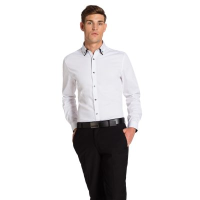 Fashion 4 Men - yd. Whistler Slim Fit Dress Shirt White S