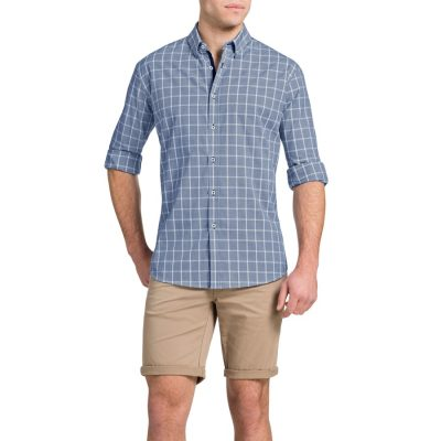 Fashion 4 Men - Tarocash Howser Check Shirt Blue Xxxl