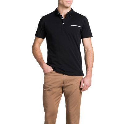 Fashion 4 Men - Tarocash Pique Polo Black L