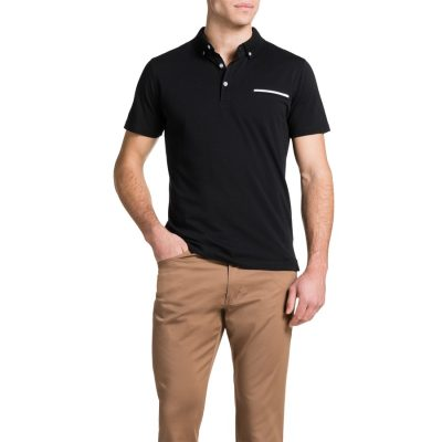 Fashion 4 Men - Tarocash Pique Polo Black Xl
