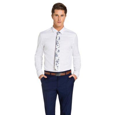 Fashion 4 Men - yd. Brosnan Slim Fit Tex Shirt White L
