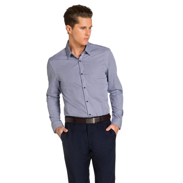 Fashion 4 Men - yd. Declan Slim Fit Shirt Navy/White Xxxl