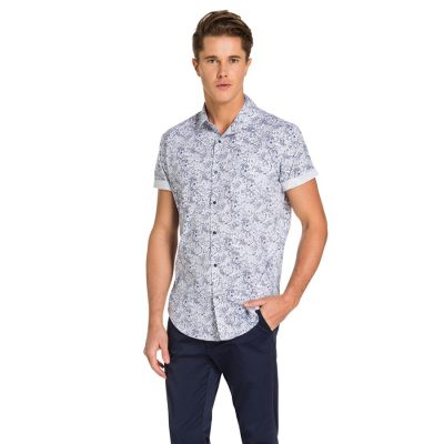 Fashion 4 Men - yd. Eonic Ss Shirt Navy 2 Xs