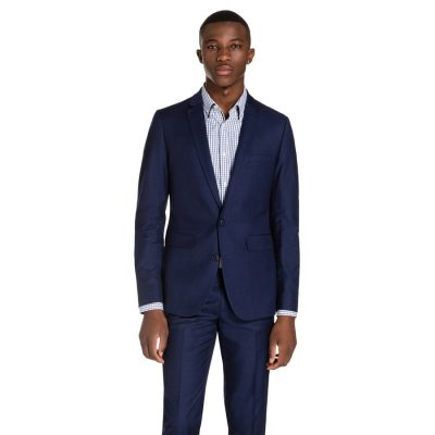 Fashion 4 Men - yd. Royce Slim Suit Oxford Navy 34
