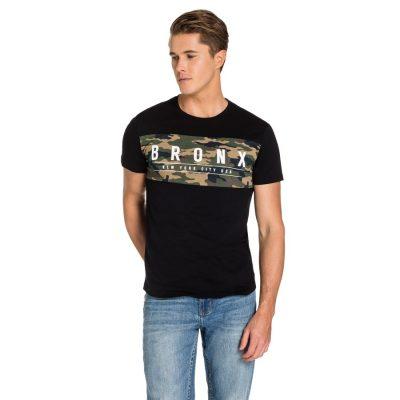 Fashion 4 Men - yd. Rumba Camo Panel Tee Black Xl
