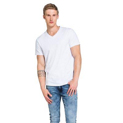 Fashion 4 Men - yd. Vinton Tee White 2 Xs