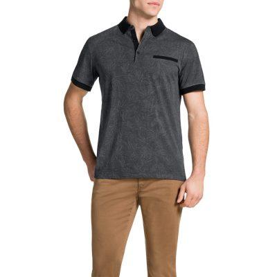 Fashion 4 Men - Tarocash All Over Print Polo Black Xxl