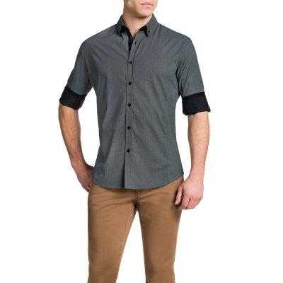 Fashion 4 Men - Tarocash Buddy Slim Print Shirt Black M