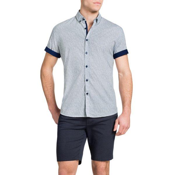 Fashion 4 Men - Tarocash Confetti Print Shirt White L