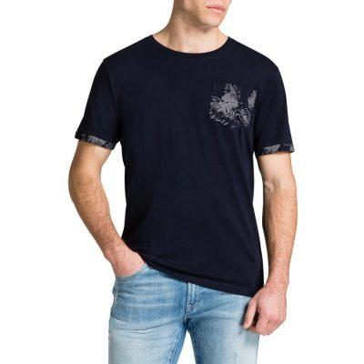 Fashion 4 Men - Tarocash Contrast Pocket Tee Navy S
