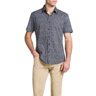 Fashion 4 Men - Tarocash Court Print Shirt Blue S