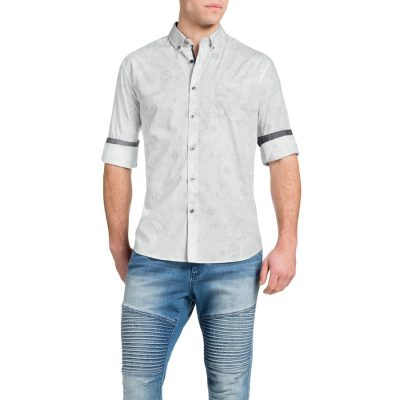 Fashion 4 Men - Tarocash Hammon Print Shirt White Xxxl