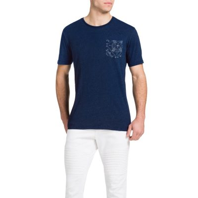 Fashion 4 Men - Tarocash Indigo Pocket Tee Indigo M