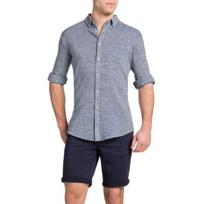 Fashion 4 Men - Tarocash Reggie Stripe Shirt Denim Xxl