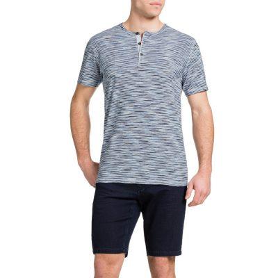 Fashion 4 Men - Tarocash Space Dye Henley White 4 Xl