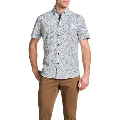 Fashion 4 Men - Tarocash Twig Print Shirt White L