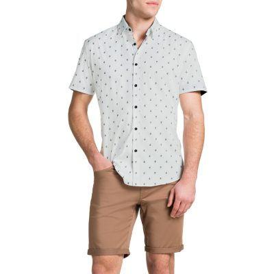 Fashion 4 Men - Tarocash Williams Print Paisley Shirt White Xxxl