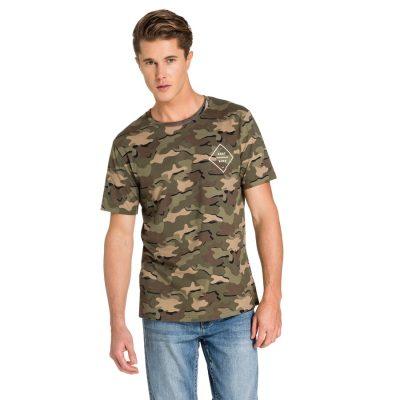 Fashion 4 Men - yd. Base Camo Tee Green 2 Xl